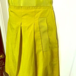 J. Crew lime green skirt